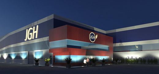 Render 3D nave industrial Murcia