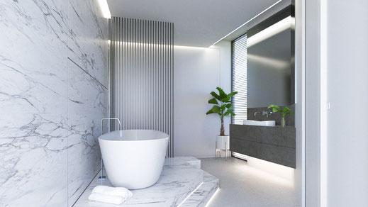 Infografía render baño