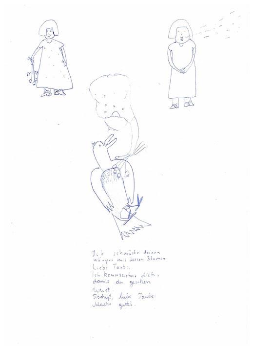 o.t.  A4  kugelschreiber
