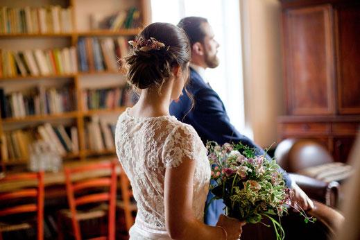 Tenues de mariage champêtre chic nantes