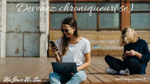 Devenez chroniqueuse du magazine Un Jour Un Oui