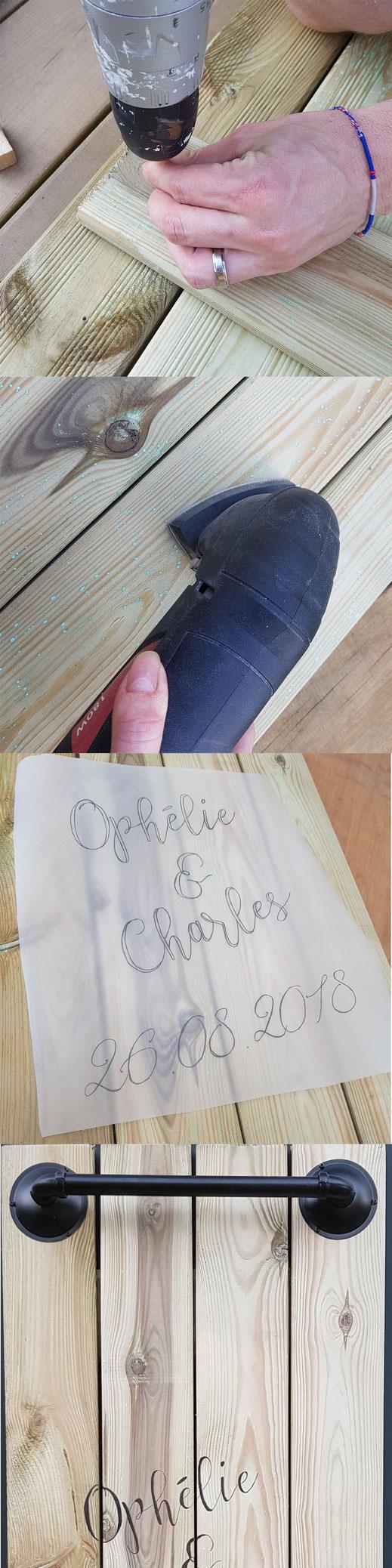 Étapes de création du livre d'Or - Crédit photo : Hésione Design