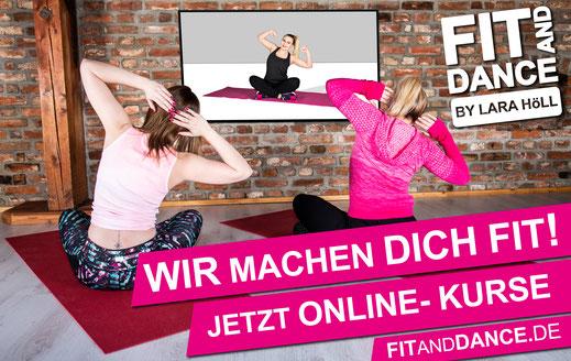 FitandDance by Lara Höll Fit@home Onlinekurse Team Fitness Kurse Strausberg Schöneiche Woltersdorf