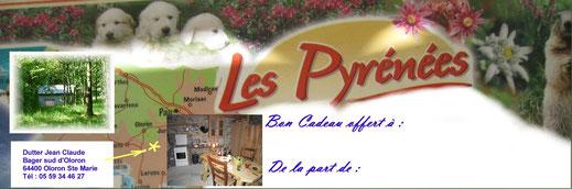 Bon cadeau pour locations de vacances à Oloron dans les Pyrénées 64