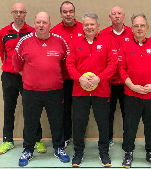 von links:  Michael Jörns, Heinrich Reingardt, Heiner Severit, Carsten Heckmann, Erhard Wolter und Peter Schöneweis.