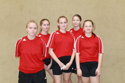 Von links: Kim Barschkies, Veronika Naumann,  Anne Geide, Katharina Keist und Lara Wollenweber