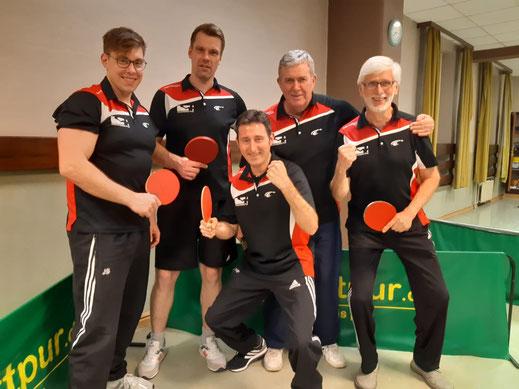 von links nach rechts: Jan Sprink, Björn Becker, Florian Schaper, Detlev Muth und Eckhard Kues.