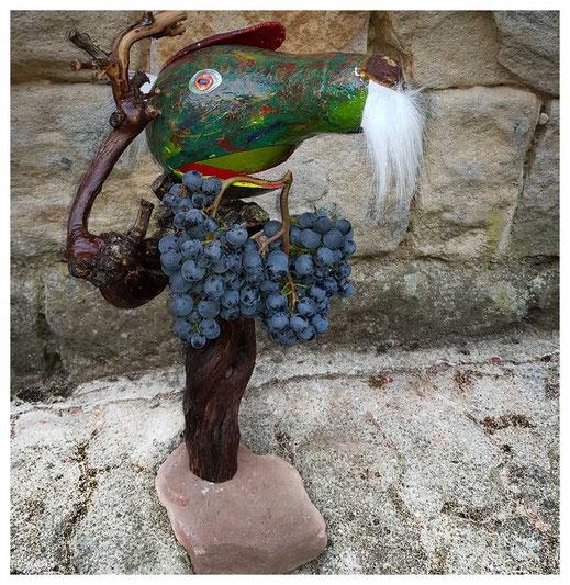 Weinbergbeisser mit Trauben