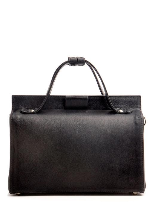 Nostalgische Tasche ESTELLE Leder schwarz OSTWALD Tradition