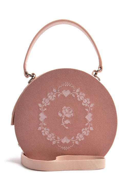 Ledertasche Greta Leder rose  Rosen  OSTWALD Traditional Craft