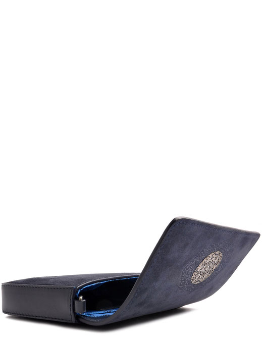 Trachtentasche in blau . Leder . versandkostenfrei bestellen