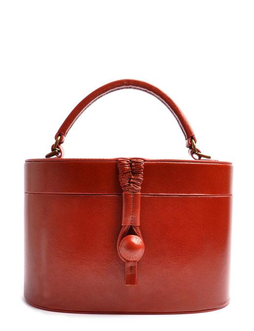Ledertasche Camille Vintagestil Leder cognac OSTWALD Traditional Craft