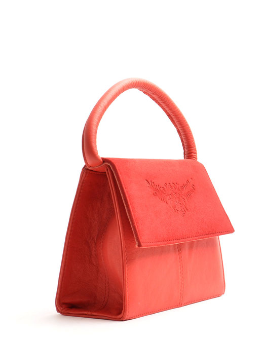 OWA Tracht Henkeltasche Desiree in rot . Ledertasche