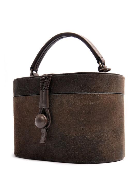 Ledertasche Camille Vintagestil Leder grau OSTWALD Traditional Craft