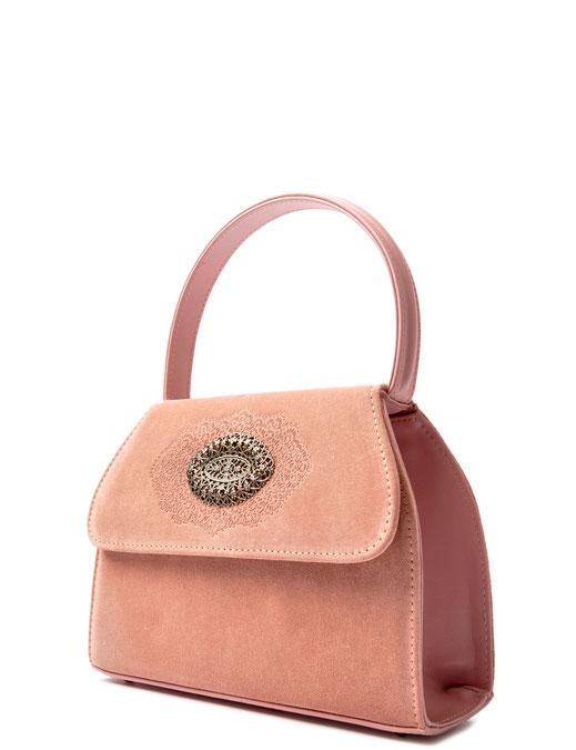 Dirndltasche rosa . Trachtentasche . Leder . kostenfrei bestellen