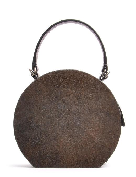 Ledertasche Greta Vintagestil Leder grau OSTWALD Traditional Craft