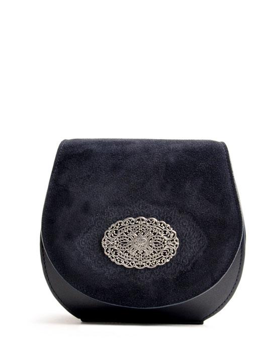 Dirndltasche Trachtentasche Blau Leder OWA Tracht Online-Shop