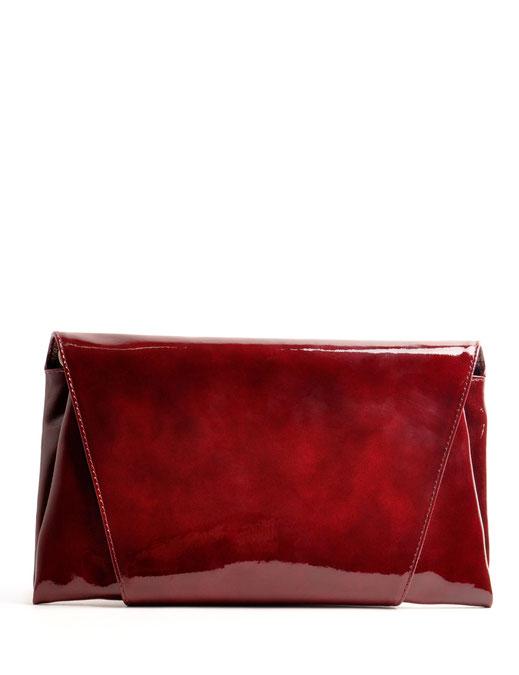 Dirndltasche Trachtentasche Clutch Farbe beere Leder