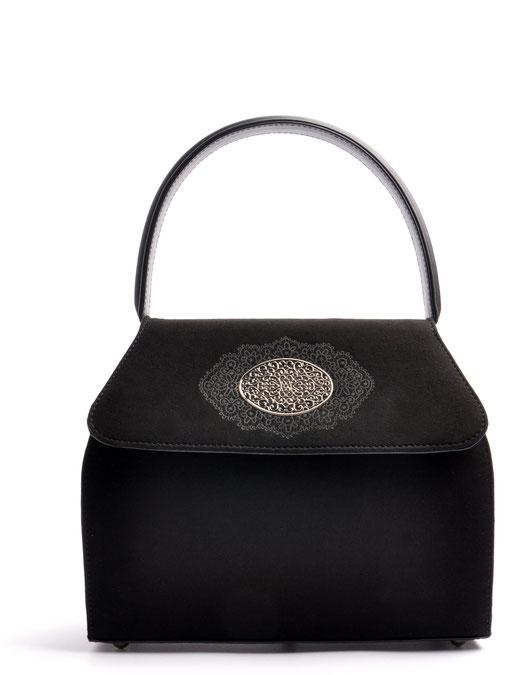 Dirndltasche  Henkeltasche EMMA schwarz mit Schmuckfiligran OSTWALD Traditional Craft