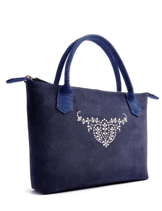 Trachtentasche INÈS blau OSTWALD Traditional Craft