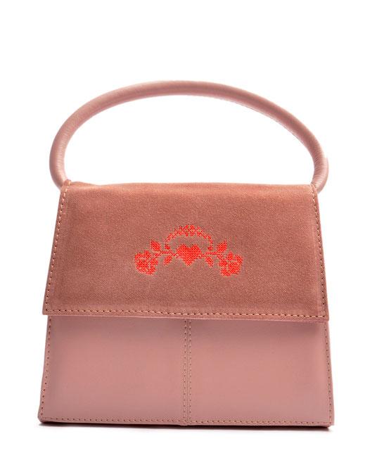 Dirndltasche rose Leder . Henkeltasche zur Tracht . versandkostenfrei bestellen