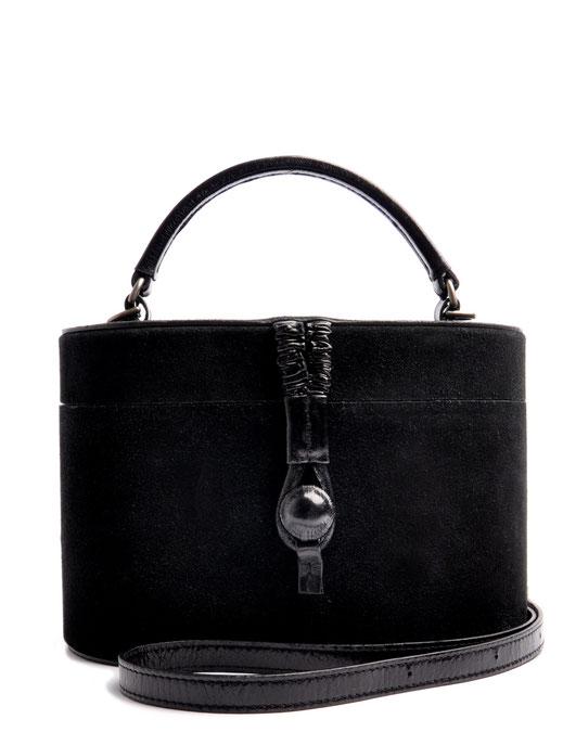 Ledertasche Camille Vintagestil Leder schwarz OSTWALD Traditional Craft