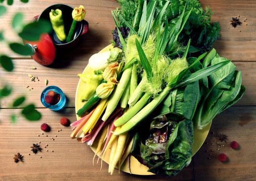 毎日仕入れているという野菜は佐野を中心とした地元産にこだわっている。