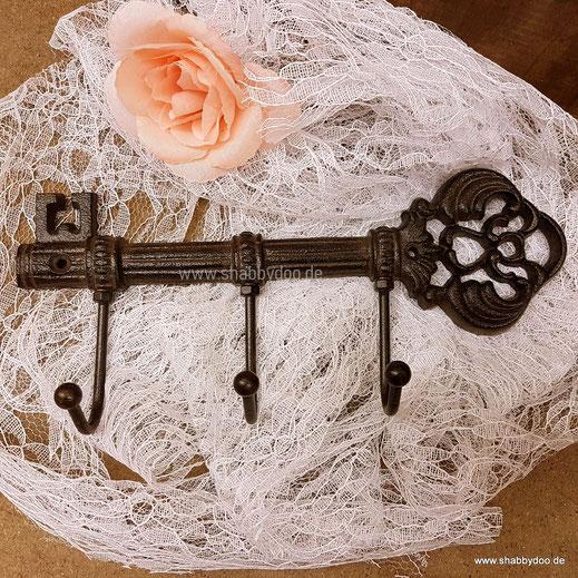 Deko Schlüssel Schlüsselbrett Metall shabby vintage braun