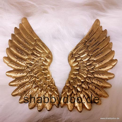 Engelsflügel gold shabby Deko Ornament