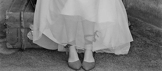 Brautmode für eine moderne Braut.