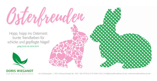 Flyer Doris Wiegandt Osterfreude vorn