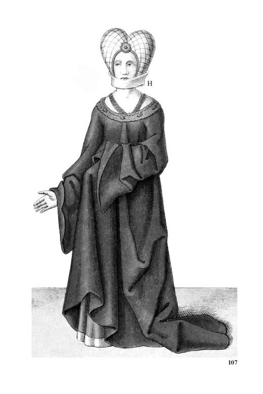 Frauenkostüm des 15. Jahrunderts.