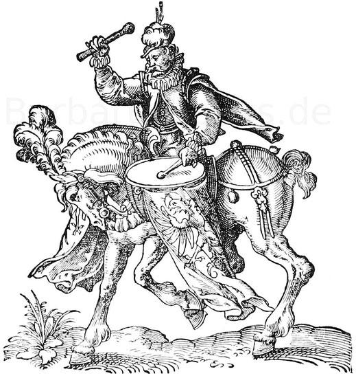 Pauker Landsknecht 30-jähriger Krieg in Deutschland.