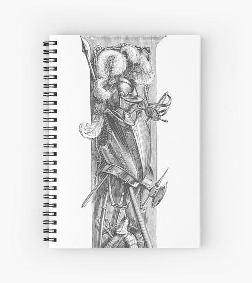 spiralbuch-notizbuch-mittelalter-krieger-knecht-soldaten-landsknecht-stechreiten-turnier-turnierreiten-pferd-held-frühmittelalter-hochmittelalter-spätmittelalter-reisig-lanze-lanzenreiter-burgfäulein-larp-burg-schloss