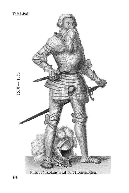 Johann Nikolaus Graf von Hohenzollern, in der Tracht der ersten Hälfte des 16. Jahrhunderts