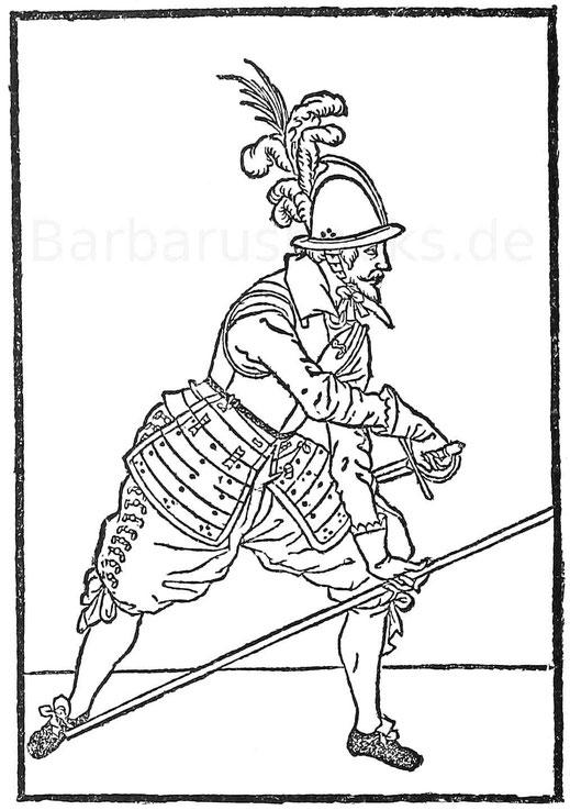 "Exercitum. Holzschnitt aus ""Soldatenbuch"". Frankfurt a. M. 1610."