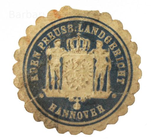 Papiersiegel Hannover Landgericht
