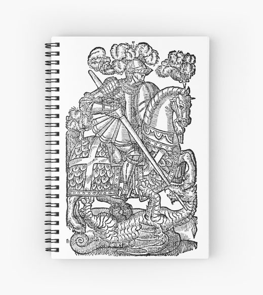 spiralbuch-notizbuch-ritter-sage-geschichte-mystik-myten-heldentum-held-zwerge-elfen-elben-trolle-orks-lanzenreiter-lanze-schwert-rüstung-unsichtbar-germanen-heiden-religion-mittelalter-europa-katholisch-evangelisch-pferd-kämpfer
