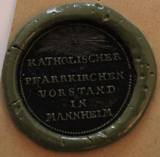 Dokumentensiegel der Kath. Pfarrkirchen Vorstand Mannheim
