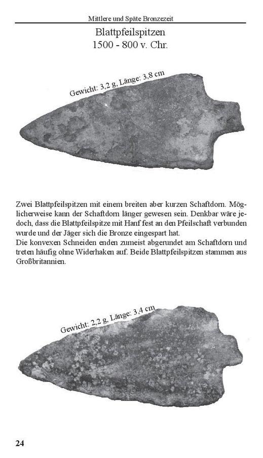Blattpfeilspitzen der Mittleren und Späten Bronzezeit