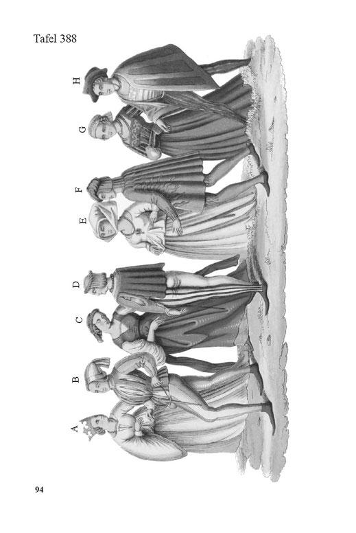 Trachten und Kostüme von Bürgern Deutsches Reich des 16. Jahrhunderts Mittelalter