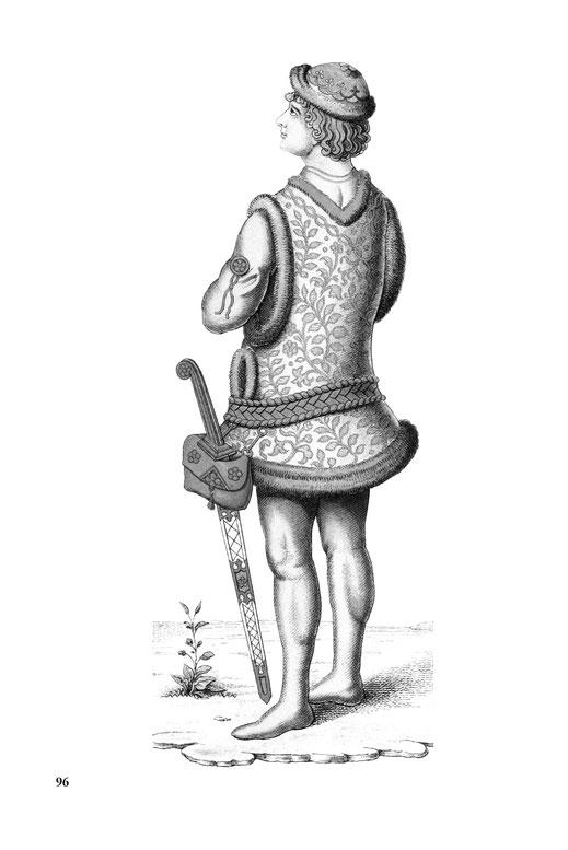 Mann des 15. Jahrhunderts mit Schwert