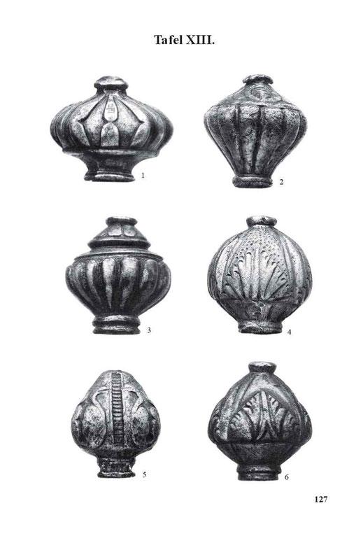 Landsknechtschwert-Knauf in Vasenform mit Wulstverzierung, zweites Viertel des 16. Jahrhunderts.