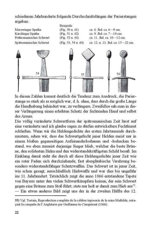 Durchschnittslängen der Papierstangen bei mittelalterlichen Schwertern