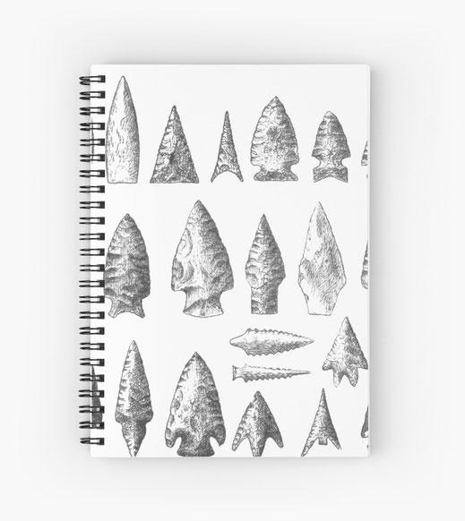 spiralbuch-notizbuch-pfeil-pfeilspitze-bow-bogen-armbrustbolzen-armbrust-schwert-rüstung-jäger-steinzeit-kupferzeit-neolithikum-sammler-jagd-hunt-fleisch-essen-überleben-nahrung