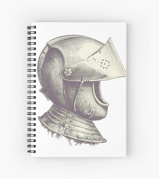 notizbuch-spiralblock-rüstung-rüstzeug-kettenhemd-lanze-schwert-wappen-axt-mittelalter-antike-europa-geschichte-bleistift-sketch-sage-lanzelot-arthur-tafelrunde-larp-könig-mittelerde-elben-orks-adel-zwerge-erzählung-hundsgugl