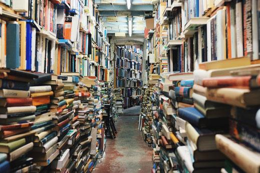 Buchladen mit Sortiment