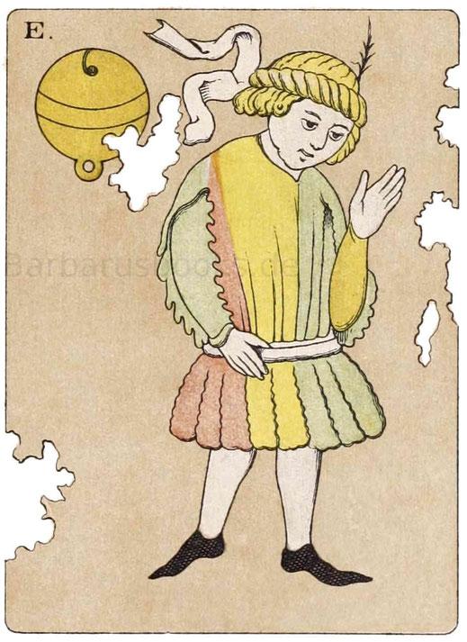 Spielkarten deutschen Ursprunges, Originalgröße, aus dem Germanischen Museum zu Nürnberg