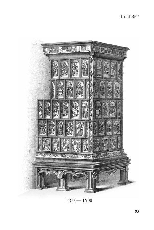 Ofen mit Kacheln des 16. Jahrhunderts aus Deutschland alt historisch