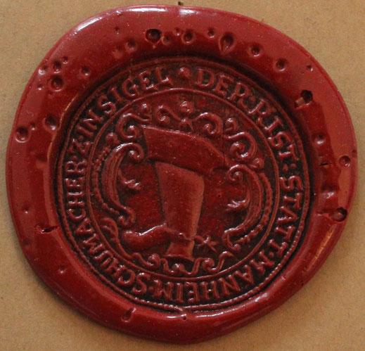 Dokumentensiegel der Schuhmacher Mannheim 1750